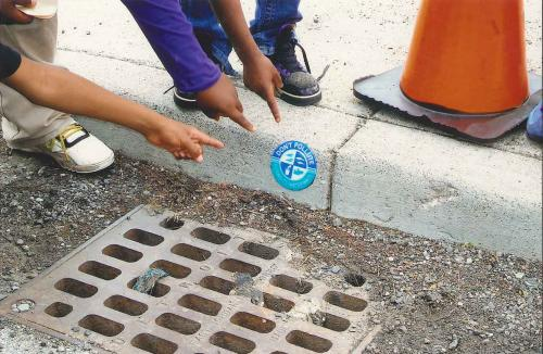 Storm drain project image.