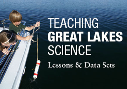 Teaching Great Lakes Science workmark image.