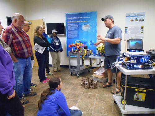 Teachers learning about underwater ROVs image.