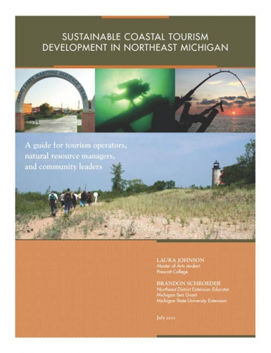 Sustainable Coastal Tourism in Northest Michigan report cover image.