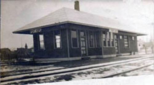 Post card image of Port Hope Depot.