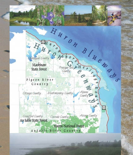 Huron Blueways and Greenways map courtesy: NEMCOG.
