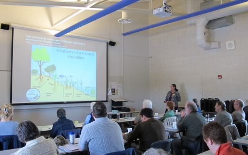 Jane Herbert, MSU Extension Educator, trains natural resource professionals who are part of the MNSP Shoreline Educator Network
