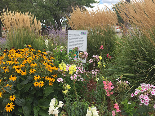 Master Gardener display at Michigan welcome center