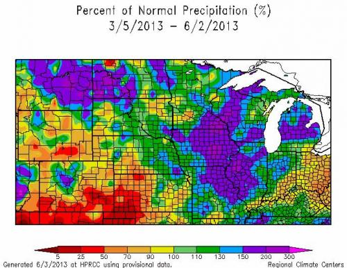 Percent of Normal Precipitation