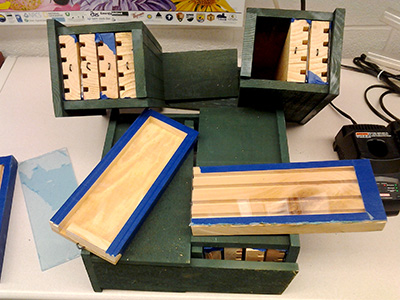 Nesting boxes for bees