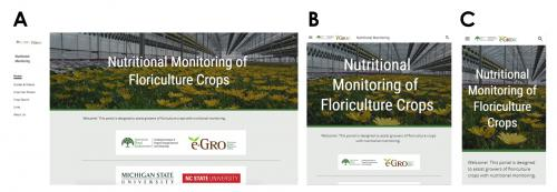 Nutritional Monitoring of Floriculture web