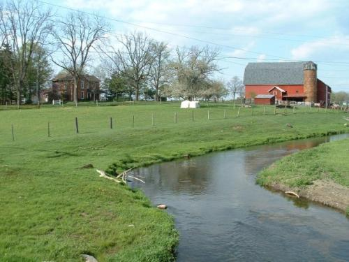 Barnyard and stream