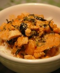 Recipe:Chicken curry with rice