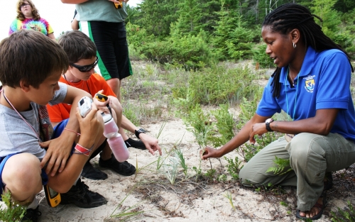 GLNR campers learn about a threatened plant