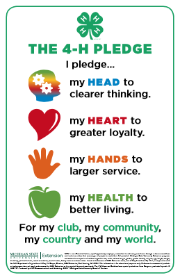 4-H Pledge Posters