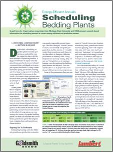 Energy-efficient annuals 2: Scheduling bedding plants