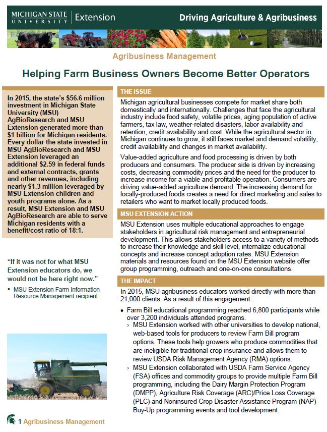 Agribusiness Management - Helping Farm Business Owners Become Better Operators