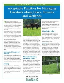 Acceptable Practices for Managing Livestock along Lakes, Streams, and Wetlands (E3066)