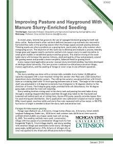 Improving Pasture and Hayground with Manure Slurry-Enriched Seeding (E3102)