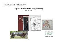 Planning and Zoning*A*Syst #9: Capital Improvement Programming (E3104)