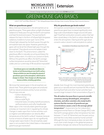 Greenhouse Gas Basics (E3148)