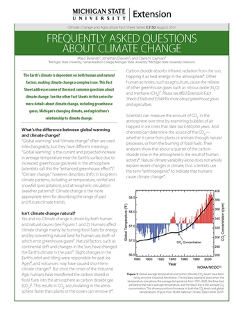 Frequently Asked Questions about Climate Change (E3150)