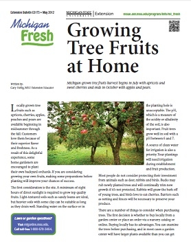 Michigan Fresh: Growing Tree Fruits at Home (E3173)