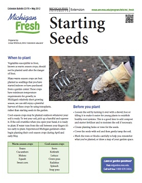 Michigan Fresh: Starting Seeds (E3176)