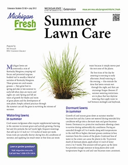 Michigan Fresh: Summer Lawn Care (E3180)