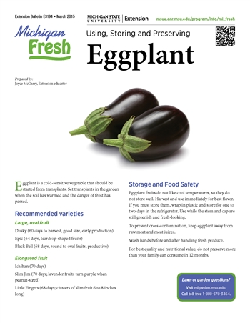 Michigan Fresh: Using, Storing, and Preserving Eggplant  (E3194)