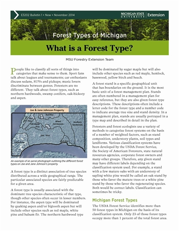 Forest Types of Michigan: What is a Forest Type? (E3202-1)