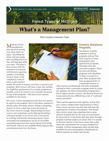 Forest Types of Michigan: What's a Management Plan? (E3202-17)