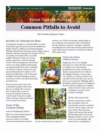 Forest Types of Michigan: Common Pitfalls to Avoid (E3202-18)