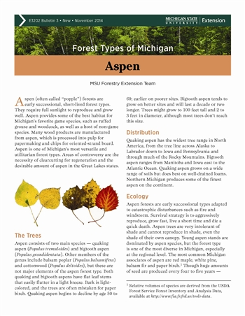 Forest Types of Michigan: Aspen (E3202-3)