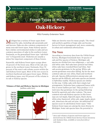 Forest Types of Michigan: Oak-Hickory (E3202-5)