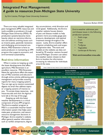 Integrated Pest Management - A Guide to Resources from Michigan State (E3220)