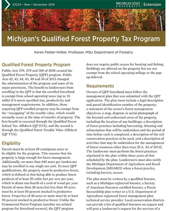 Michigan's Qualified Forest Property Tax Program (E3234)