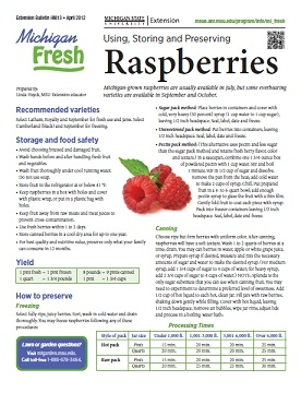 Michigan Fresh: Using, Storing, and Preserving Raspberries (HNI13)
