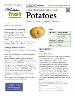 Michigan Fresh: Using, Storing, and Preserving Potatoes (HNI14)