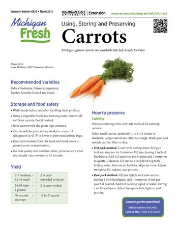 Michigan Fresh: Using, Storing, and Preserving Carrots (HNI15)