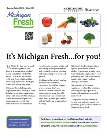 Michigan Fresh Fact Sheets (HNI153)