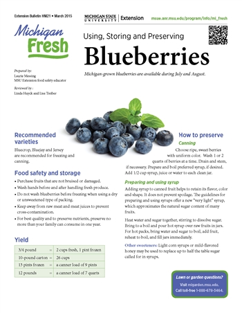 Michigan Fresh:Using, Storing, and Preserving Blueberries (HNI21)