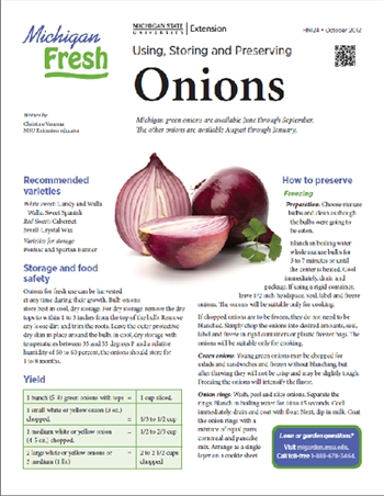Michigan Fresh: Using, Storing, and Preserving Onions (HNI24)