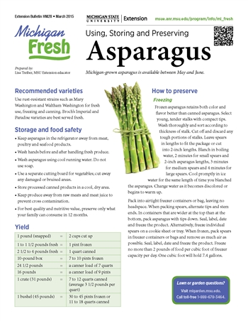 Michigan Fresh: Using, Storing, and Preserving Asparagus (HNI28)