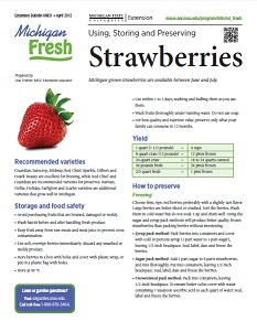 Michigan Fresh: Using, Storing, and Preserving Strawberries (HNI31)