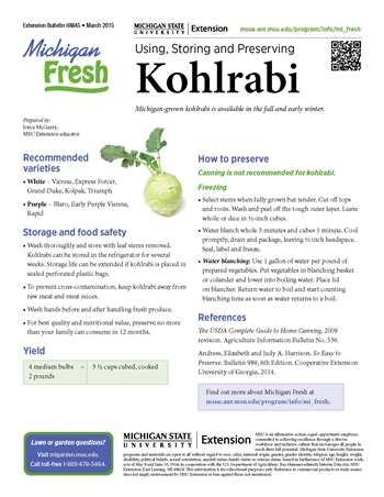 Michigan Fresh: Using, Storing, and Preserving Kohlrabi (HNI45)