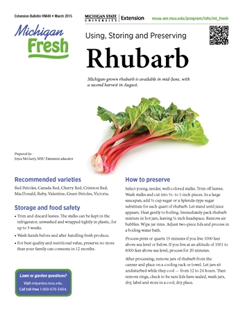 Michigan Fresh: Using, Storing, and Preserving Rhubarb (HNI48)