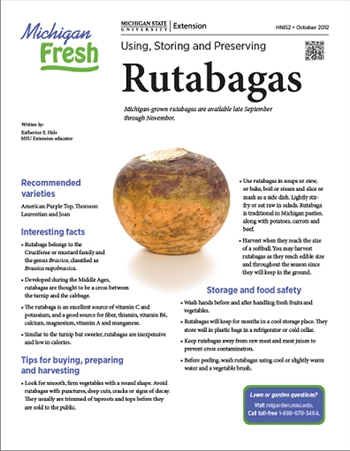 Michigan Fresh: Using, Storing, and Preserving Rutabagas (HNI52)