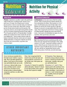 Nutrition for Adults' Life: Nutrition for Physical Activity (WO1005)
