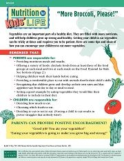 "Nutrition for Kids' Life: ""More Broccoli, Please!"" (WO1009)"