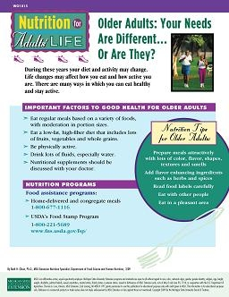 Nutrition for Adults' Life: Older Adults: Your Needs are Different (WO1015)