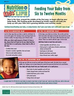 Nutrition for Kids' Life: Feeding Your Baby from Six to Twelve Months (WO1017)
