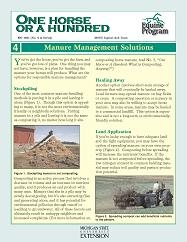 One Horse or a Hundred-Manure Management Solutions (WO1021)