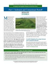 Manure Management - Sediment and Contaminent Runoff (WO1036)